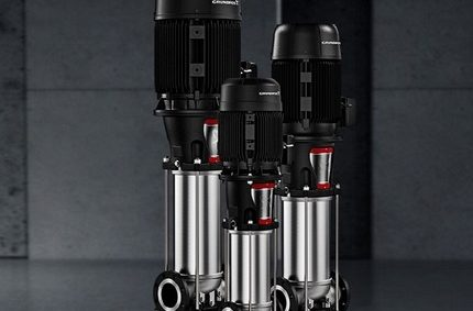 Multistage vertical feed pump